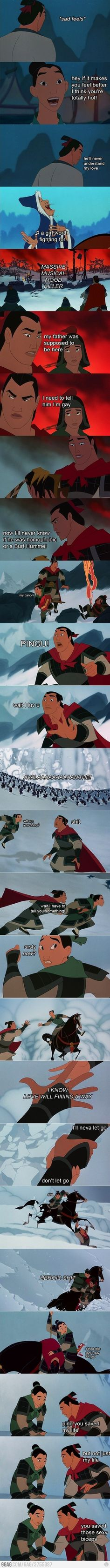 I Gay? Self-discovery with Shang. Part II Am I Gay? Self-discovery with Shang. Part IIAm I Gay? Self-discovery with Shang. Part II<br> Disney And Dreamworks, Disney Pixar, Walt Disney, Disney Princes, Disney Animation, Disney Jokes, Funny Disney, Disney Facts, Disney Marvel