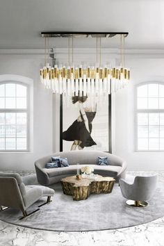 WATERFALL CHANDELIER  brings a natural feeling of waterfalls to any space #interiordesignideas #roomideas #moderninteriordesignideas luxury design, modern home, contemporary design . See more at www.luxxu.net
