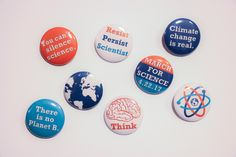 March for Science & Earth - 8 Button Set by ScienceWomen on Etsy https://www.etsy.com/listing/512103837/march-for-science-earth-8-button-set