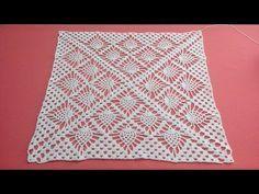 Como Tejer Un Mantel Cuadrado Tutorial Crochet Y Dos Agujas Patrones De Tejido Cuadro De Pina Manteles Cuadrados Manteles Tejidos A Crochet