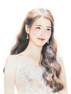 By 최화영 Kpop Drawings, Cool Art Drawings, Art Sketches, Colored Pencil Portrait, Color Pencil Art, Korean Painting, Kpop Fanart, Girl Cartoon, Manga