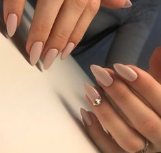 Always modern nude color on almond shape of the nails will look beautiful on every hand. Source In this article we will talk about the most modern nails and what kind of manicure will not pass unnoticed in the near… Continue Reading → #NailDesigns