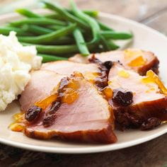 Cherry-Stuffed Ham A chunky dried cherry sauce oozes into deep slits cut in the ham, providing a burst of flavor in every bite. A delicious main course recipe for Easter dinner or brunch.