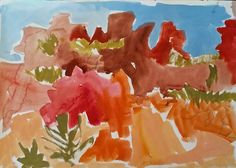 Meagan Jacobs Artist - Walking Thru - Gouache on paper