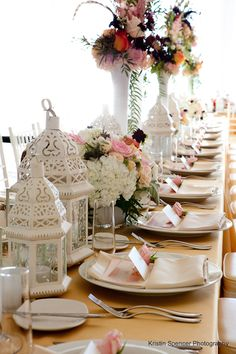 Scaled down. But kinda into the whimsical feel? Long tables instead of round?