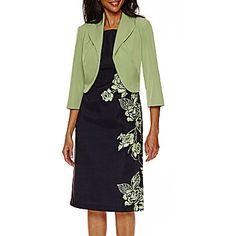 jcp | Maya Brooke Floral Print Jacket Dress