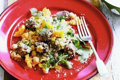 Cut clean-up time by baking this clever lamb and couscous dish in one pan.