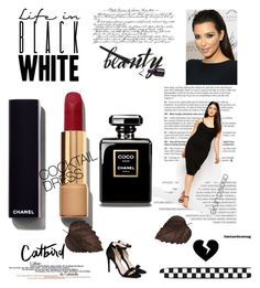 little black dress by glam-and-curvy on Polyvore featuring moda, ASOS Curve, STELLA McCARTNEY, Chanel, black, LittleBlackDress and seebuywear
