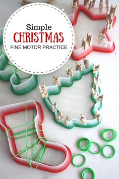 Holiday activities for kids christmas fine motor 48 new ideas Holiday Activities For Kids, Fine Motor Activities For Kids, Motor Skills Activities, Art Therapy Activities, Infant Activities, Kids Motor, Educational Activities, Classroom Activities, Preschool Christmas