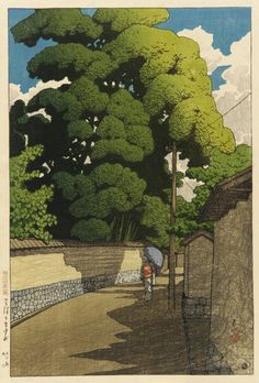 Kawase Hasui, Summer Afternoon at Shimohonda-Cho Kanazawa, 1921