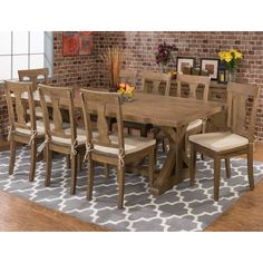 Jofran Slater Mill Trestle Dining Table - Give guests a rustic, elegant welcome by seating them around the Jofran Slater Mill Trestle Dining Table. This comfortably shabby chic dining tabl...