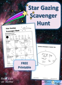 Adults and children can both appreciate the beauty and majesty of the stars with this free printable star gazing scavenger hunt!