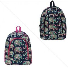 afd138a14e Elephant Print NGIL Canvas School Backpack - http   meetyouritem.com  Canvas
