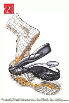 Anatomy of a midsole/outsole >>> Tasty Sketch Shoe Sketches, Drawing Sketches, Drawings, Sketch Design, Layout Design, Design Design, Estilo High Tech, Sketch Inspiration, Design Inspiration