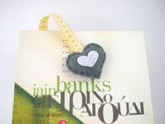 Personalized felt bookmark initial by FishesMakeWishesHome on Etsy