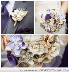 Harry Potter Wedding Accessories: boutonnieres and bouquets