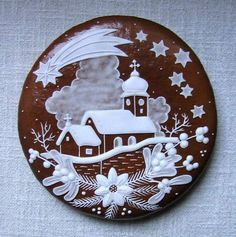 Today we are looking at Moravian and Bohemian gingerbread designs from the Czech Republic. Back home, gingerbread is eaten year round and beautifully decorated cookies are given on all occasions. Fancy Cookies, Iced Cookies, Cute Cookies, Royal Icing Cookies, Cookies Et Biscuits, Christmas Gingerbread House, Noel Christmas, Christmas Goodies, Christmas Desserts