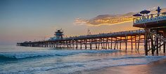 San Clemente beach pier. One of the last small town beaches left in Southern California.
