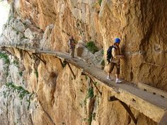 """Not for the faint of heart.  Caminito del Rey near Malaga, Spain.  Wait a couple of years...think it's undergoing repairs...too many """"mishaps"""".  #JetsetterCurator"""