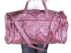 Vintage Convertible Strap Burgundy Leather Huge by stellahsgroove, $60.00