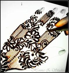 How To Do Simple GULF (Emirati) Henna DESIGN