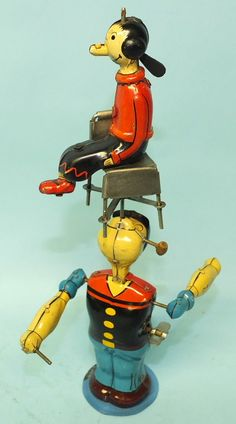 VINTAGE LINEMAR POPEYE JUGGLING OLIVE OYL MECHANICAL TIN WIND UP TOY - See more at: http://toysoftimespast.com/products-page/windups/vintage-linemar-popeye-juggling-olive-oyl-mechanical-tin-wind-up-toy-box-3/#sthash.JMfxS7J9.dpuf