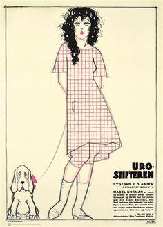 Plakat, Urostifteren 1920, inkl. ramme