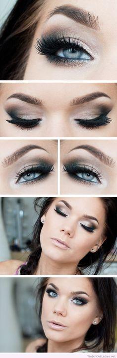 Linda Hallberg simple brown and black eye makeup