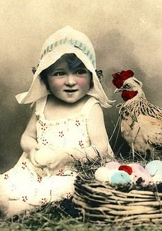 rooster and child (love the dutch hat)