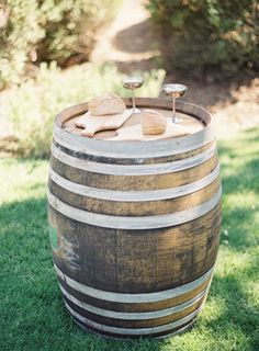 cutting board, bread and wine for wedding communion