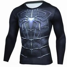 2017 T shirt Compression Shirt Crossfit T-shirt Men Lycra 3D Print Long Sleeve T shirt Fitness Brand Clothing MMA Plus Size //Price: $US $7.98 & FREE Shipping //