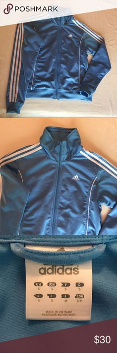 Adidas track jacket Light blue track jacket with pockets adidas Jackets & Coats