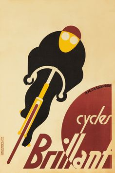 Adolphe Mouron Cassandre, poster for Cycles Brillant, 1925. France.