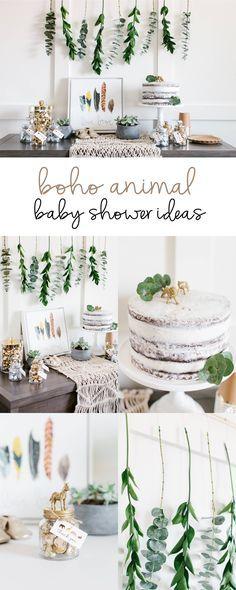 Boho Animal Baby Shower Ideas | Styled by The TomKat Studio