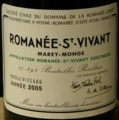 This wine makes the list of the world's most expensive wines. Domaine de la Romanee-Conti Romanee-Conti Grand Cru, Cote de Nuits, France. Average price is $12,827 but has been sold for as much as $272,129!
