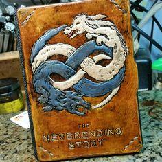 Custom Neverending Story kindle reader case WorldofLeathercraft.com  #neverending #leather #art #nerdist #nerd #geek #craft #neverendingstory #giftideas #tablet #ipad #ipadcase #kindle