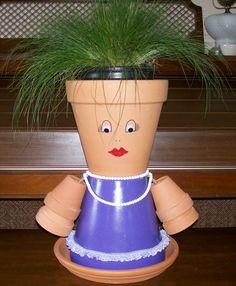 Purple Flower Pot girl