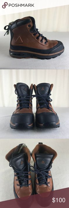 Shop Men s Nike ACG Blue Brown size Boots at a discounted price at  Poshmark. Description  Like new except laces will need replaced. d9eb51a52751