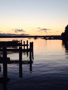 Kirkland Marina, Washington     Overlooking sunset  at Kirkland Waterfronts