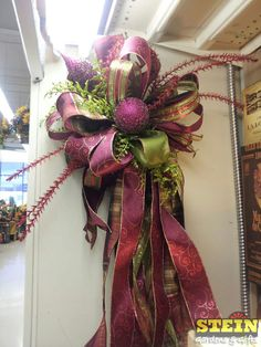 Tree Topper Bow by Trudi at our Appleton location.