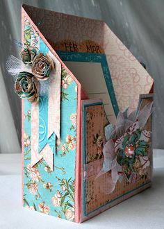 Beautiful project from Designer Ava Gavloski. She created this gorgeous Calendar box using BasicGrey Core Impression cardstock. With tutorial.