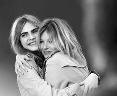 Kate & Cara juntinhas pro novo perfume da Burberry