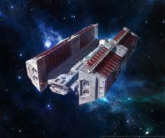 BFF-1 bulk freighter by agnidevi.deviantart.com on @DeviantArt
