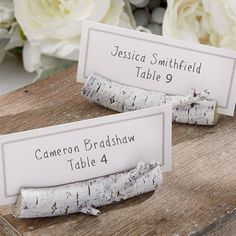 Birch Place Card Holder by Beau-coup