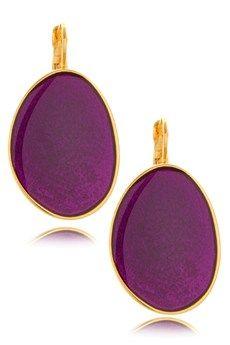 KENNETH JAY LANE PURPLE Enamel Drop Earrings PRET-A-BEAUTE.COM $54