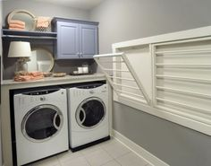 Image of: laundry room drying rack wall mount
