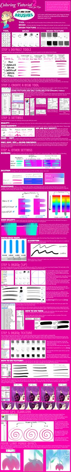 ColoringTutorial and Sai Tips2 by ~DyMaraway on deviantART