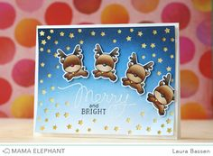 mama elephant | design blog: STAMP HIGHLIGHTS : REINDEER GAMES by Laura Bassen.