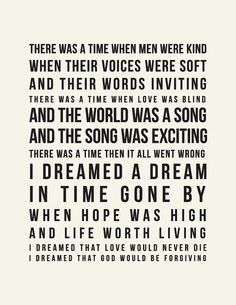Les Misérables makes me happy. Sing with me now... :: I Dreamed a Dream // Print by LADYBIRDINK