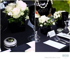 TUXEDO WEDDING - Black and white wedding decor -  www.umeusstudios.com